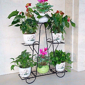 COMBO Kệ Sắt Để Chậu Hoa, Cây Cảnh Trang Trí Nhà Cửa 6 Tầng + Xẻng Làm Vườn - TẶNG 100 HẠT GIỐNG HOA MƯỜI GIỜ