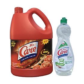 Nước giặt xả 5in1 Mr.Care hương Majestic 3.8kg + Tặng 1 chai nước rửa chén TrueCare Thiên nhiên 750g