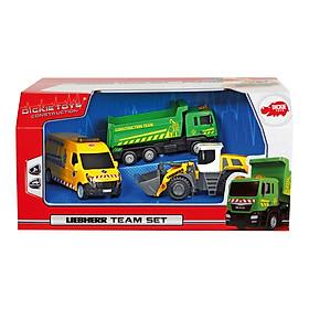 Bộ 3 Xe Công Trường Dickie Toys Liebherr Team Set - 18 cm (Giao Ngẫu Nhiên)