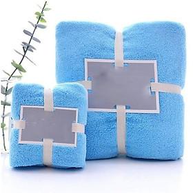 Combo 2 Khăn tắm dày 34x75+70x140,siêu thấm chất liệu 100 cotton 120g+450g 0143