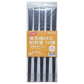 Bộ 10 đôi Đũa nhựa tổng hợp kháng khuẩn, chịu nhiệt cao nhập khẩu Nhật Bản