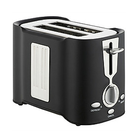 Black Toast Machine Multifunctional Household Toaster 2 Slice Bread Toasters with 6 Gear Adjustable Kitchen Appliances