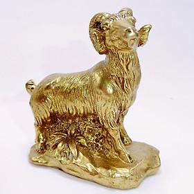 Tượng Dê Phong Thủy Bằng Đồng Kim Tiền Jewelry - 8,6 cm x 7,2 cm
