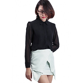 Wrapskirt Họa Tiết Labelle SK12_3_Xanh