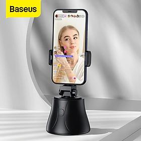 Đế kẹp điện thoại thông minh chống rung, xoay 360° hỗ trợ chụp ảnh, livestream Baseus 360°AI Following Shot Tripod Head - Hàng chính hãng