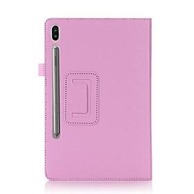 Bao Da Nắp Gập Màu Trơn Cho Samsung Galaxy Tab S7 Plus S7