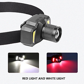 USB Rechargeable Smart Headlight Flashlight Torch for Outdoor Cycling Night Fishing