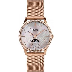 Đồng hồ nữ Henry London HL35-LM lịch mặt trăng