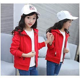 Áo khoác bé gái có mũ, màu đỏ TE1886