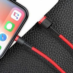Cáp sạc 2.4A Baseus Lightning dùng sạc pin và đồng bộ dữ liệu tốc độ cao , dây dù bền bỉ dành cho iPhone/iPad ( nhiều lựa chọn ) - Hàng chính hãng