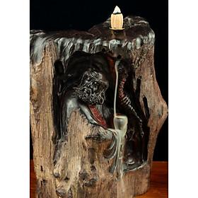 Tượng gỗ mỹ nghệ- Đạt Ma khất thực gỗ nu trắc