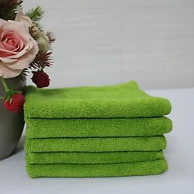 Combo 5 Khăn Làm Nail Cotton Nam Phong 34*34cm - màu Xanh Rêu-4