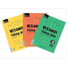 Combo Trọn Bộ 3 Cuốn: Vitamin Tiếng Hàn Tập 1, 2, 3 (Học Kèm App: MCBooks Application) (Tặng Truyện Song Ngữ Hàn Việt)