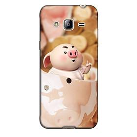 Ốp lưng nhựa cứng nhám dành cho Samsung Galaxy J3 2016 in hình Heo Heo