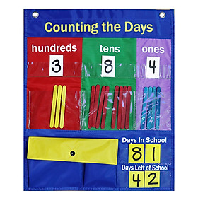 School Classroom Pocket Chart Counting The Days Back with Magnetic Strip Number Cards Counting Sticks Develop Counting &