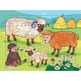 Xếp hình Tia Sáng Đàn cừu  (30 Mảnh Ghép) - Tặng kèm tranh tô màu cho bé