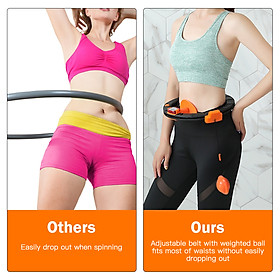 Adjustable Spinning Waist Hoop with Counter Smart Counting Waist Hoop for Waist Slimming Exercise-4