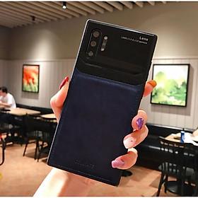 Ốp lưng da kính cao cấp hiệu Delicate dành cho SamSung Galaxy Note 10 Plus - Hàng nhập khẩu