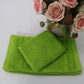 Combo 5 Khăn Làm Nail Cotton Nam Phong 34*34cm - màu Xanh Rêu-3