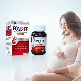 Viên uống bổ sung Sắt, Acid folic, Vitamin B12 cho phụ nữ có thai, mẹ bầu và cho con bú không gây táo bón FONBIFE