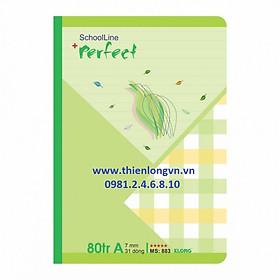 Vở kẻ ngang Perfect - 80 trang; Klong 883 bìa xanh lá