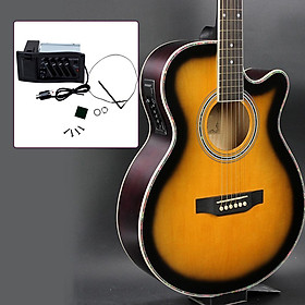 Classic 4 Band Acoustic Guitar Pickup Pre-amp 1/4' Output Pick-up Equalizer