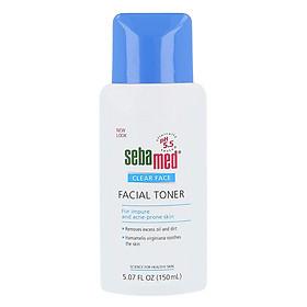 Nước Hoa Hồng Cân Bằng Da Và Se Khít Lỗ Chân Lông Cho Da Mụn Sebamed Clear Face Deep Cleansing Facial Toner Ph5.5 Chai 150ml Từ Đức