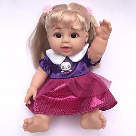 Đồ Chơi Ba Lô Búp Bê Thơm biết nói tóc vàng cao 28cm cho bé