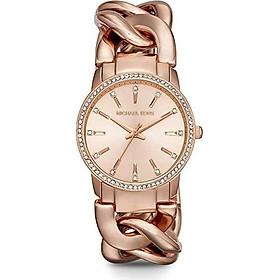 Michael Kors Women's Lady Nini Chain Watch, three hand quartz movement with crystal bezel