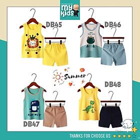 Bộ quần áo trẻ em ba lỗ mùa hè tươi mát ,đồ bộ bé trai, bé gái bộ quần áo thun cho bé chất cotton