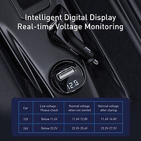 Tẩu sạc đa năng tích hợp phát nhạc từ USB dùng cho xe ô tô Baseus Streamer F40 AUX/FM Wireless MP3 Car Charger - Hàng chính hãng