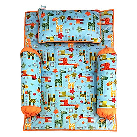 Bộ 4 Món Ga Gối Cho Bé Sleep Baby Colorful Giraffe 1 - F125