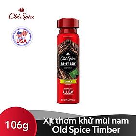 Xịt thơm khử mùi nam Old Spice Refresh Body Spray Timber 106g (Mỹ)