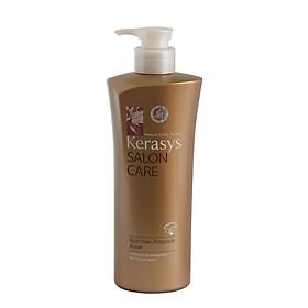 Bộ dầu gội xả Kerasys Salon Care Nutritive - Dành cho tóc hư tổn Hàn Quốc 600ml tặng kèm móc khoá-3