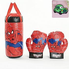 Bộ đấm bốc trẻ em kèm găng tay- Bộ dụng cụ tập Boxing kèm 2 găng tay cho bé, mẫu tự chọn+ Tặng kèm hình dán chiếc xe ngộ nghĩnh cho bé