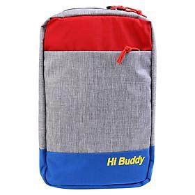 Túi Đeo Chéo Đa Năng Nhiều Màu Ver2 Hi Buddy CHBV2 (25 x 39 cm) - Xanh Đỏ