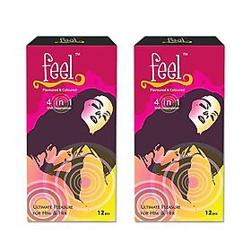 Bộ 2 Bao cao su malaysia Feel - Bao cao su kéo dài thời gian quan hệ ( Hộp 12 chiếc )