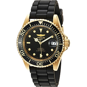 Invicta Men's Pro Diver Automatic-self-Wind Watch with Stainless-Steel Strap, Black, 19 (Model: 23681)