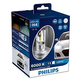 Bóng Đèn Pha Ô tô, Xe hơi Philips X-tremeUltinon LED H4 12953BWX2 6000K+ 200%