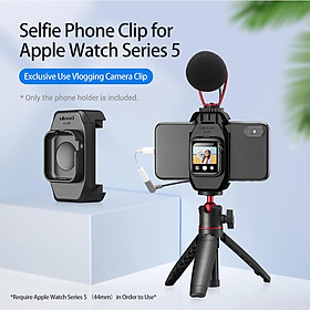 ulanzi ST-09 Smartphone Holder Clamp with Cold Shoe Mount Compatible with Apple Watch Series 5 iPhone 11/11 Pro/11 Pro