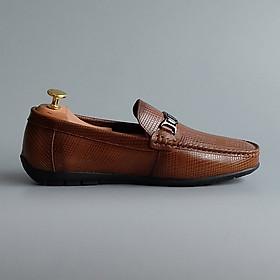 Giày lười nam da bò thật cao cấp - Thiết kế lịch lãm sang trọng hàng hiệu Fu Khang GL03001