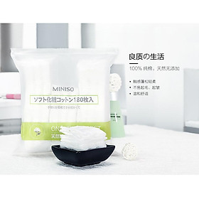 Bông Tẩy Trang Miniso Only The Purest Cotton Pads 180 Miếng-1