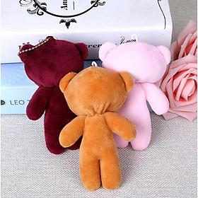 Gấu Bông Đồ Chơi Làm Móc Khóa Balo, Túi Xách Vải Mềm Siêu Dễ Thương Dài 12CM - Hàn Tổng store.