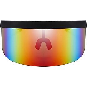 Oversize  Visor Sunglasses Flat Top  Eyewear