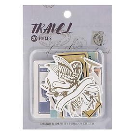Set 20 Sticker Trang Trí - Chủ Đề Travel