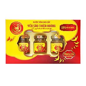 Hộp Yến Thiên Hoàng Có Đường (3 Lọ x 70 ml)