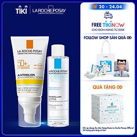Bộ đôi kem chống nắng và làm sạch La Roche-Posay (Anthelios Anti-Imperfection 50ml & Micellar Water Ultra Sensitive Skin 50ml)