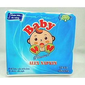 Khăn vải khô đa năng BabyWow - Công nghệ Xanh bảo vệ môi trường (75 cái/gói, 30cm x 30cm)