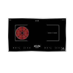 Bếp điện từ hồng ngoại CIVIN EI-6215 Inverter Bo mạch Italia Chíp SIMENS Mâm điện E.G.O 02 vòng nhiệt Mặt kính Schott Ceran (4000W) Malaysia - Hàng nhập khẩu