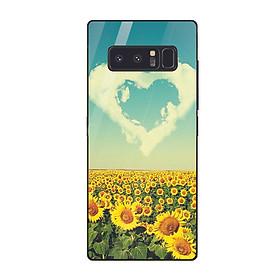 Hình đại diện sản phẩm Ốp điện thoại kính cường lực cho máy Samsung Galaxy Note 8 - trái tim tình yêu MS LOVE028 - Hàng Chính Hãng